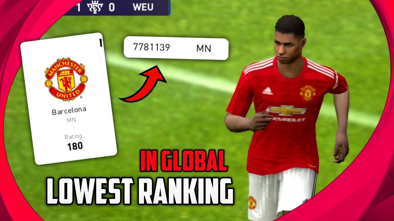 World's Lowest Ranking Player | Become The Last Ranking Player In Pes 2021 Mobile