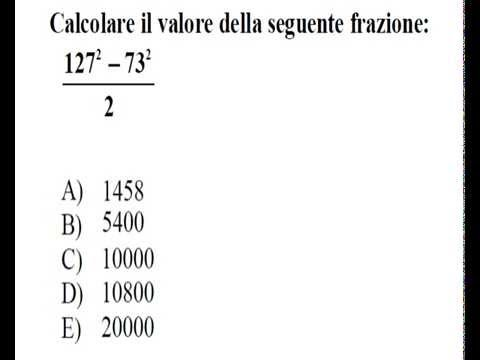 TEST DI AMMSSIONE DI MEDICINA 2014 - QUESITI DI MATEMATICA ...