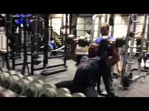 Poundstone 110lb shoulder presses