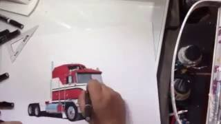 BJ and the bear Time Lapse drawing by Truck