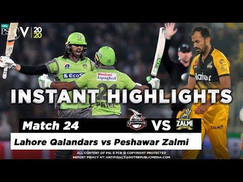 Lahore Qalandars vs Peshawar Zalmi   Full Match Instant Highlights   Match 24   10 March   HBL PSL 5