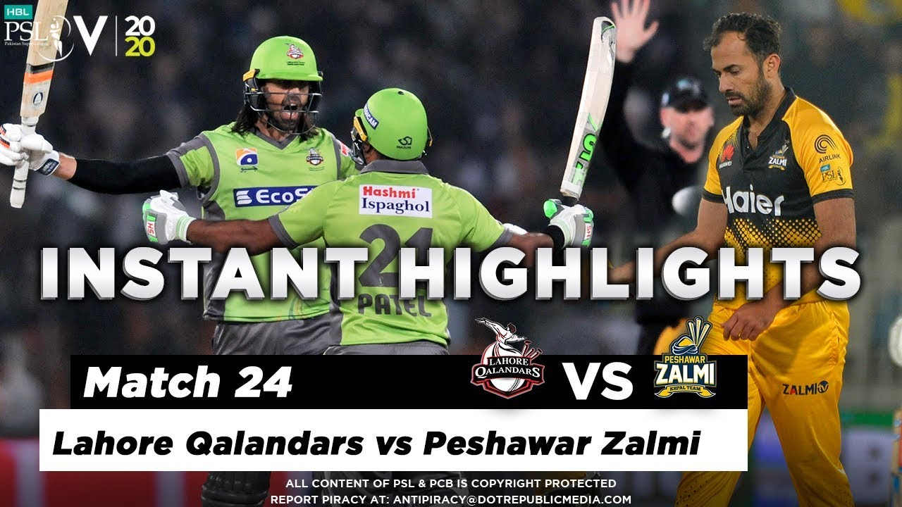 Lahore Qalandars vs Peshawar Zalmi | Full Match Instant Highlights | Match 24 | 10 March | HBL PSL 5