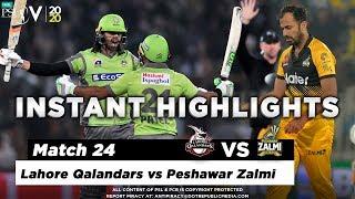 Lahore Qalandars vs Peshawar Zalmi | Full Match Instant Highlights | Match 24 | 10 March | HBL PSL 5