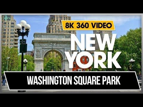 8K 4K 360 VR Video Walking Washington Square Park New York Midtown Manhattan 2018 USA NYC r D4Krdca2