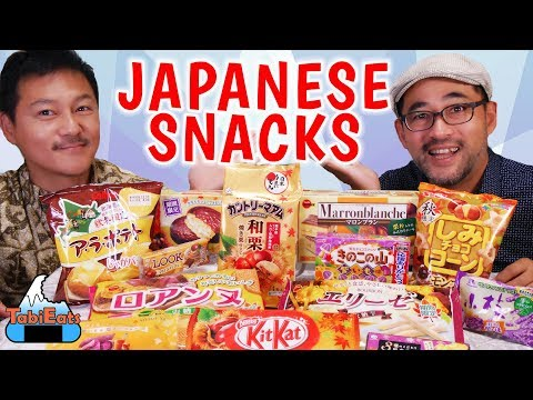 Trying Japanese Snacks | Autumn Limited...