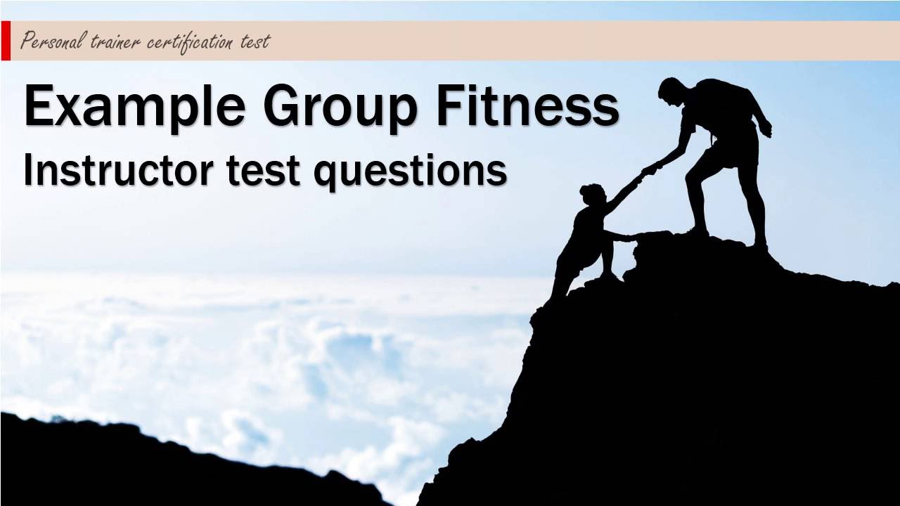 Example group fitness instructor test questions 1 youtube xflitez Choice Image