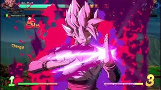 Dragon ball fighterz using DHC combos in game