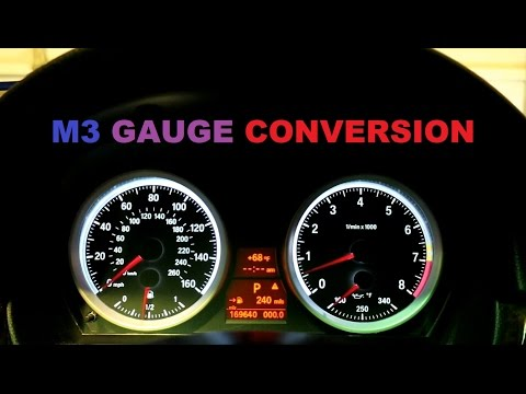 BMW E90 M3 DIY Gauge Conversion.  On my 2008 335i