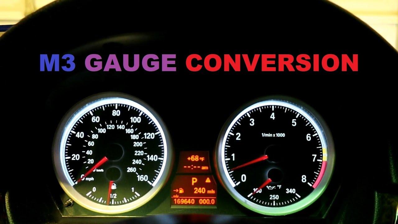 Bmw E90 M3 Diy Gauge Conversion On My 2008 335i Youtube
