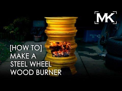 [How To] Make A Steel Wheel Wood Burner Easy Diy Project