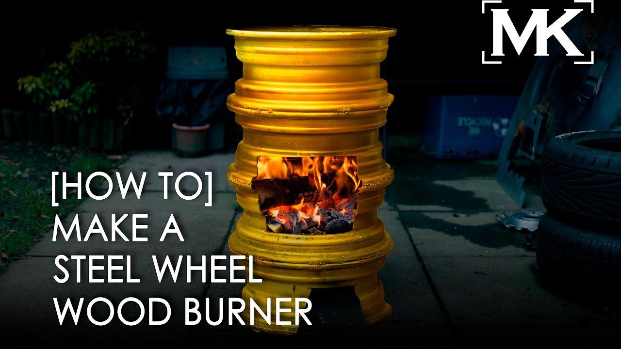 How To Make A Steel Wheel Wood Burner Easy Diy Project
