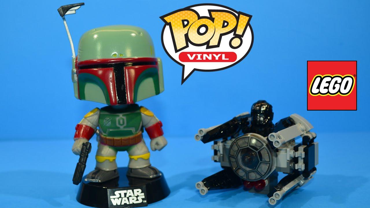 Funko Pop! Boba Fett & LEGO Star Wars TIE Interceptor ...