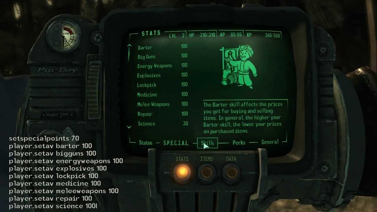 Fallout 3 Stats Cheat