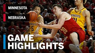 Highlights: Minnesota at Nebraska | Big Ten Basketball