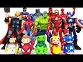 Avengers Assemble! Hulk, Thor, Spider-Man, Iron Man, Captain America, Batman, Superman