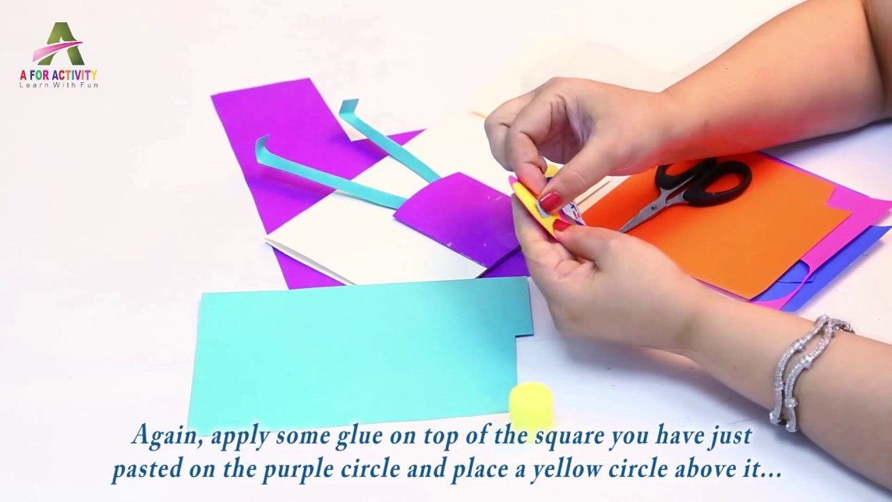 Art And Craft Activities For 2 And 3 Years Old Kids How To Make Paper Flower Holder With Flower