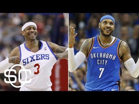 Carmelo Anthony passes Allen Iverson on all-time scoring list   SportsCenter   ESPN