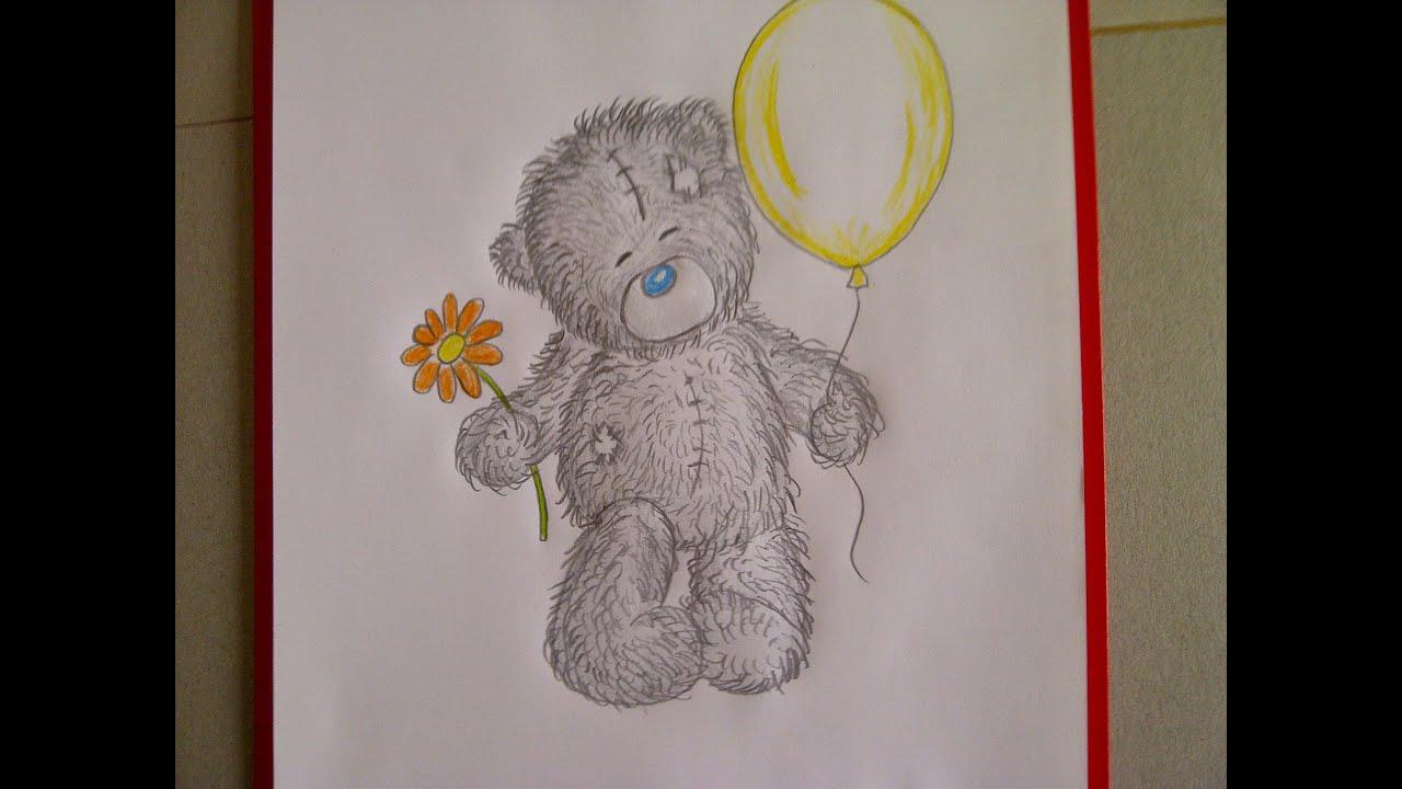 Como dibujar un oso de peluche. Un dibujo para principiantes. Como ...