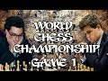 Caruana vs Carlsen | World Chess Championship 2018 - Game 1