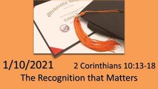 2 Corinthians 10:13:18