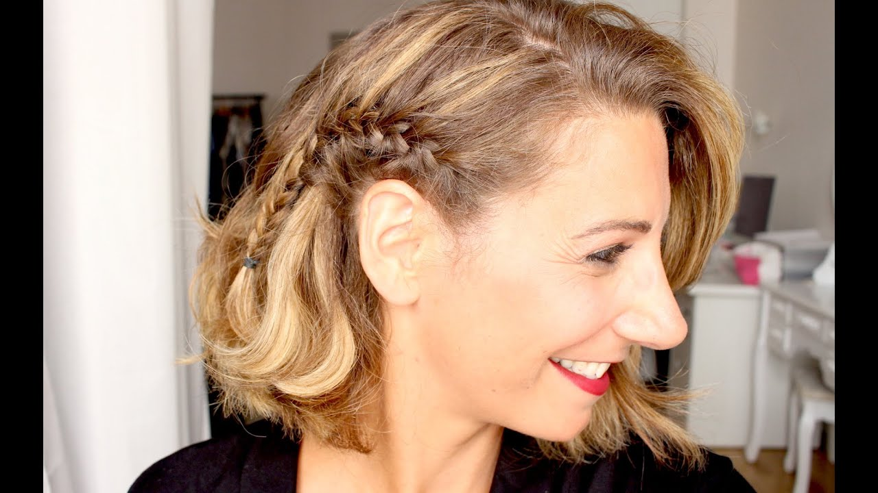 Comment se faire une tresse coll e sur le c t marion blush youtube - Comment faire une tresse indienne ...