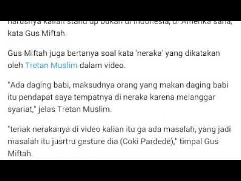 Gus Miftah Nasehati Tretan Muslim dan Coki Pardede, 'Harusnya Kalian Bukan Stand up di Indonesia Mp3