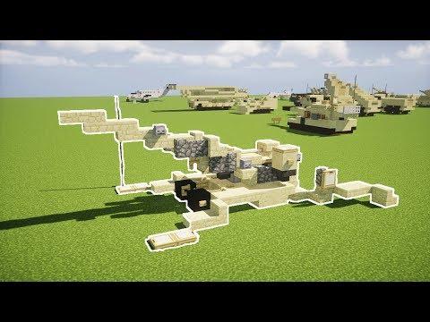 Minecraft M777 155mm Towed Howitzer Tutorial