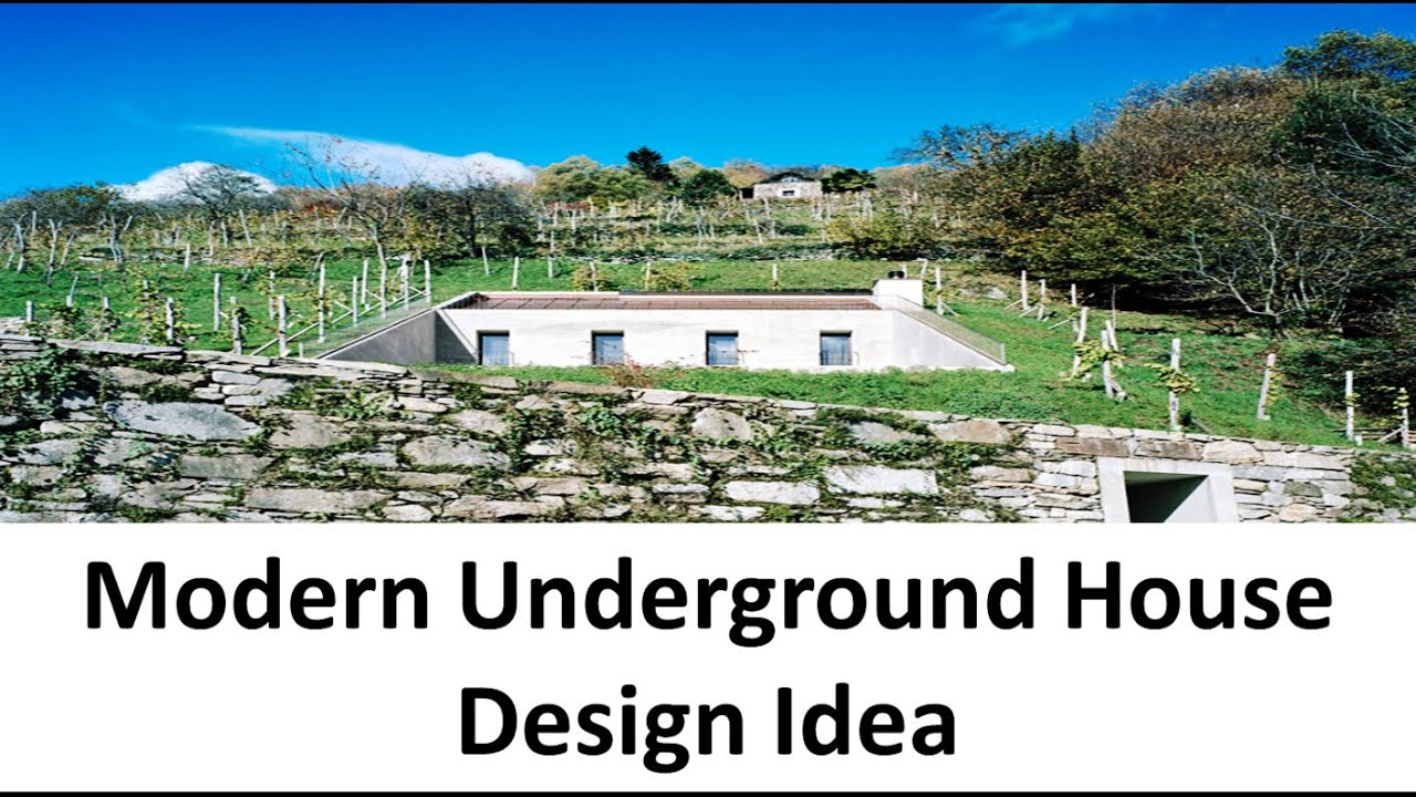 Modern Underground House Design Idea with Concrete Structure - YouTube