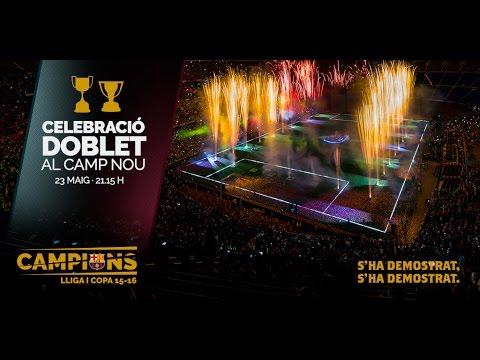 FC Barcelona: La festa dels campions del doblet 2016