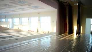 Piccolo sipario alla greca, test di apertura - Small traveller curtain, opening test