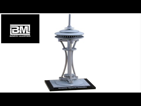 21003 Lego Architecture  Seattle Space Needle Lego SPEED BUILDING