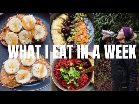 WHAT I EAT IN A WEEK // HALF-MARATHON TRAINING #1