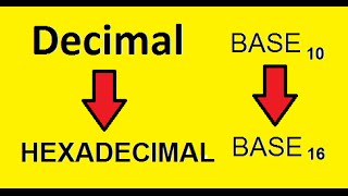 Eletrônica Digital 19 - Sistema de Numeração Decimal para Hexadecimal thumbnail