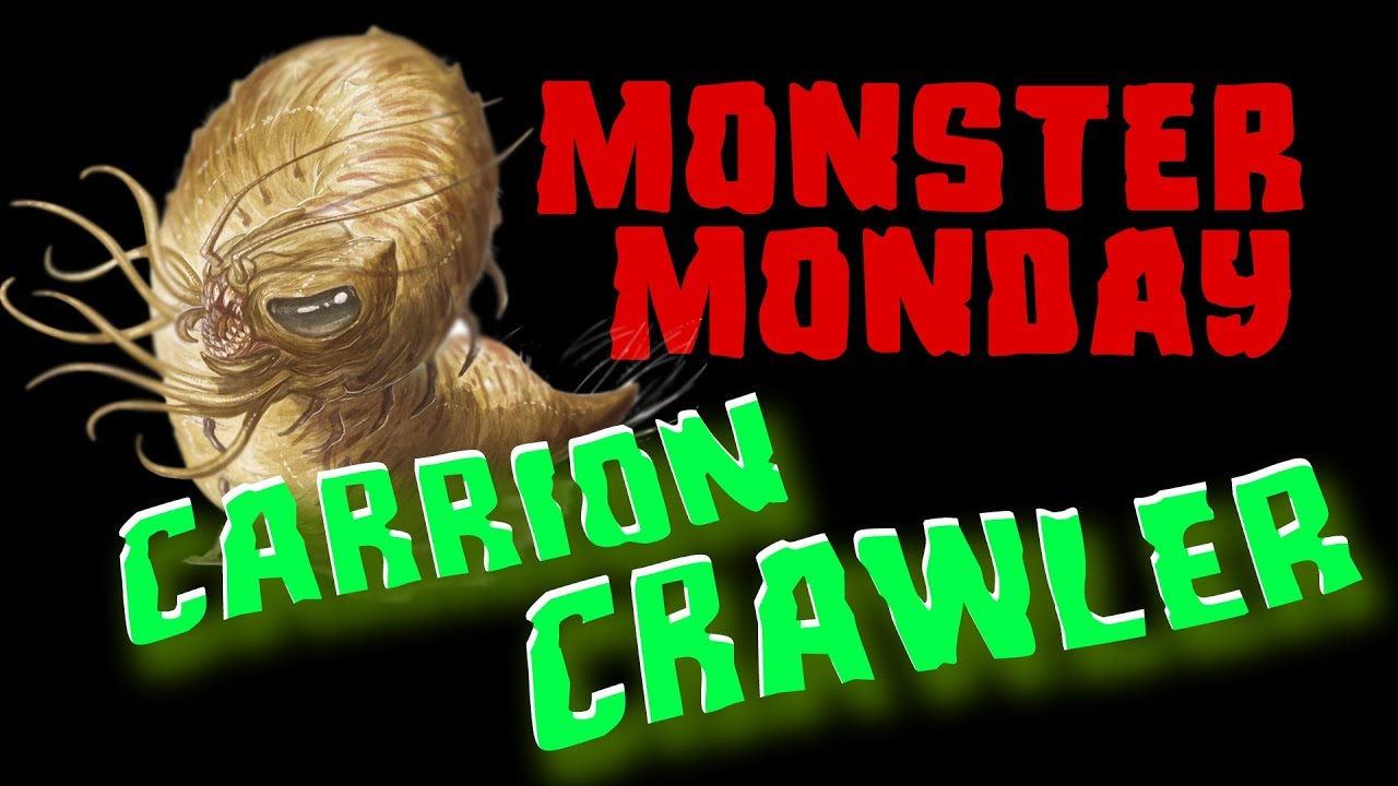 Monster Monday Carrion Crawler D D Dungeons Dragons Youtube