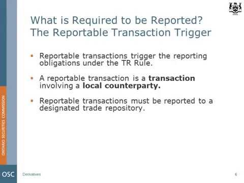Trade Repositories and Data Reporting (Updated April 17, 2014)