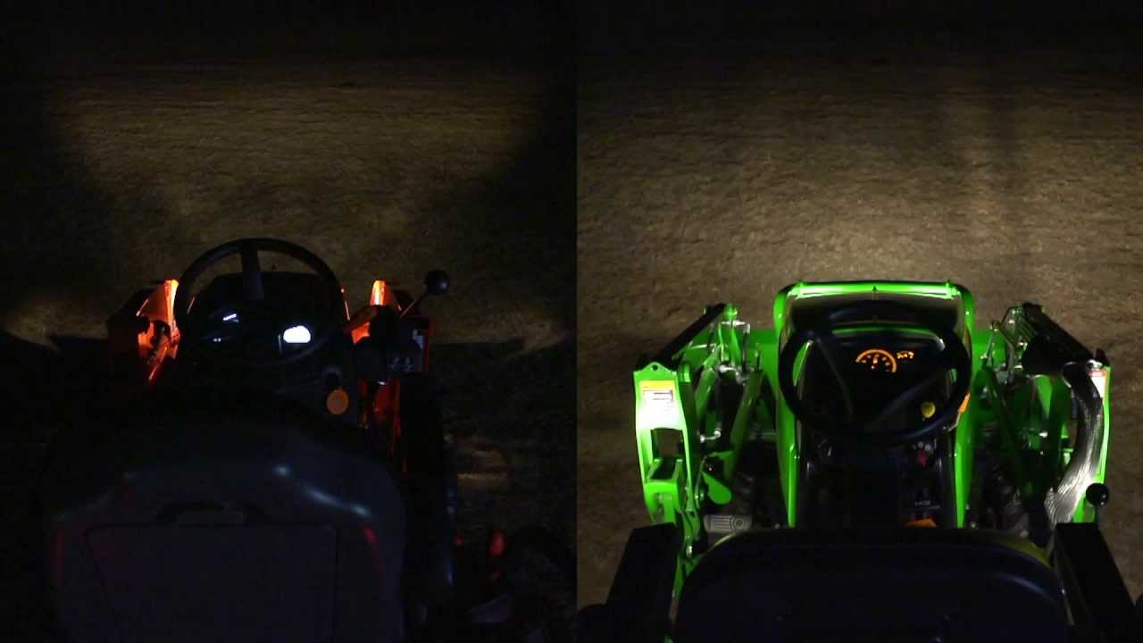 lighting packages john deere 1025r vs kubota bx youtube