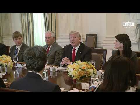 President Trump Has Lunch with the United Nations Security Council