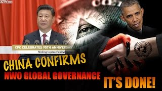 CHINA President Confirms NWO Global Governance & Will 'PUSH' for this NWO
