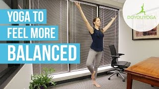 Office Yoga to Feel More Balanced | Day 3 | Office Yoga Challenge