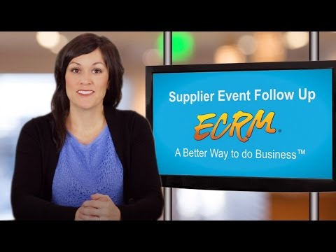 Tips to Help Suppliers Follow Up After an ECRM Event