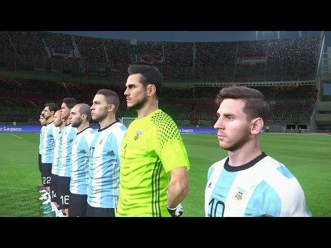 PES 17 Argentina x Portugal - Gameplay Pedido por Inscritos - Estádio El Monumental  Modo ESTRELA