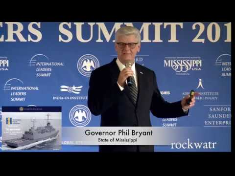 Third Jerusalem Leaders Summit | Gov. Phil Bryant: Investment and Trade Opportunities in Mississippi