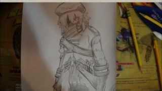 "My Pencil Drawing: Tri-edge: "".Hack// Roots"" & "".Hack// G.U"""