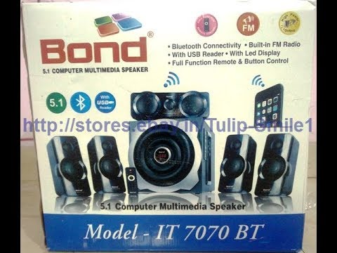 5.1 BOND IT 7070 BT computer multimedia speaker -- in HINDI