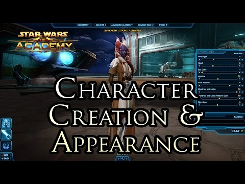 "The Academy -""Character Appearance, Customization, Species Unlocks and Darkside Corruption"""