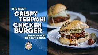 The BEST Crispy Teriyaki Chicken Burger  Easy Asian Recipes