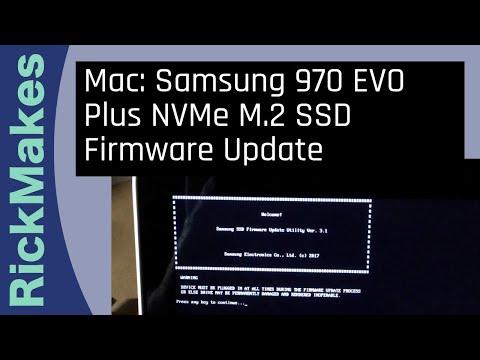 Mac: Samsung 970 EVO Plus NVMe M.2 SSD Firmware Update
