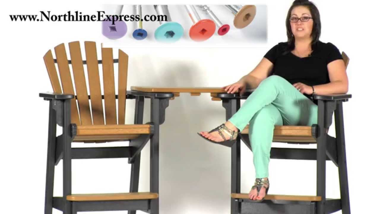 Breezesta Maintenance Free Patio Furniture   The Cedar Breezesta  Tete A Tete Table Top   YouTube
