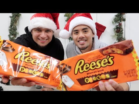 GIANT 1LB REESE'S PEANUT BUTTER CUP CHALLENGE! (WITH REESES PIECES)