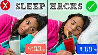 How to Fall Asleep FAST When You CANT Sleep! 10 Sleep Life Hacks!
